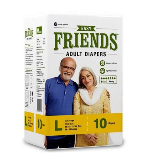 Friends Adult Diapers Easy (L)