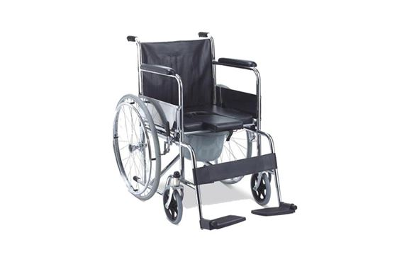 WHEEL CHAIR WITH COMMODE (FS609U)