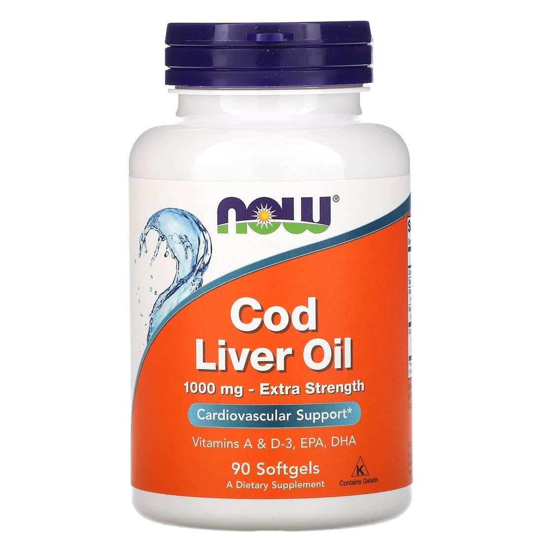 Now Cod Liver Oil 1000mg 90 Sgels
