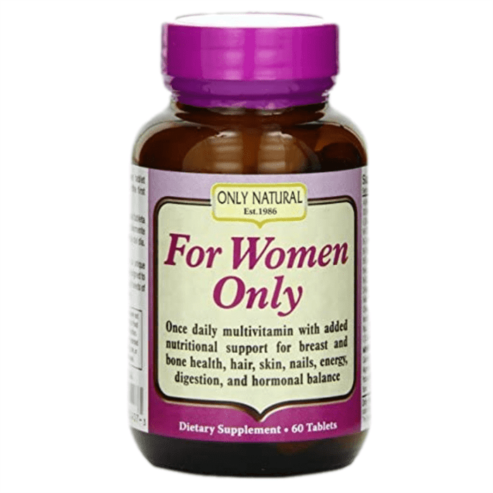 Only Natural, For Women Only, 60 Tablets