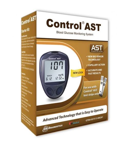 Control AST Glucometer kit with 25 Free strips